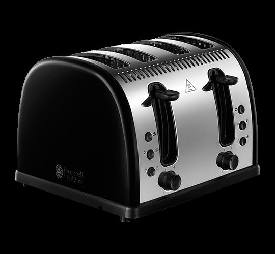 Legacy 4 Slice Toaster - Black
