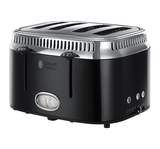 Retro Black 4 Slice Toaster