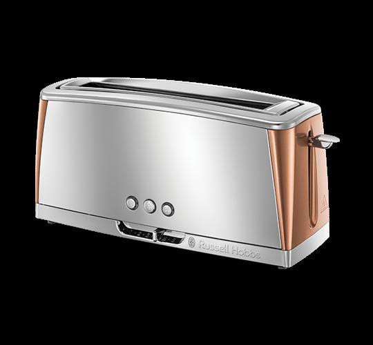 Luna Toaster 2 Slice Long Slot Copper