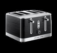 Inspire 4 Slice Black Toaster