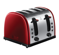Legacy 4 Slice Toaster - Red