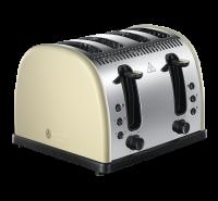 Legacy 4 Slice Toaster - Cream