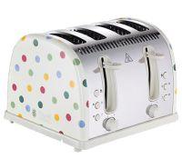Emma Bridgewater Polka Dot 4 Slice Toaster