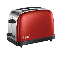 Colours+ 2 Slice Toaster Red