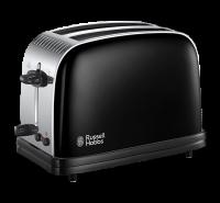 Colours+ 2 Slice Toaster Black