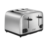 Brushed Stainless Steel 4 Slice Toaster