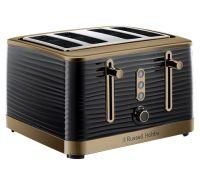 Inspire 4 Slice Brass Black Toaster