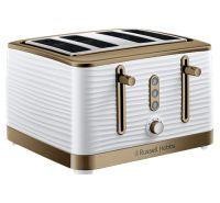 Inspire 4 Slice Brass White Toaster