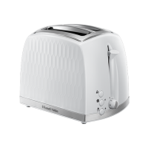 Honeycomb 2 Slice White Toaster