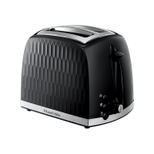 Honeycomb 2 Slice Black Toaster