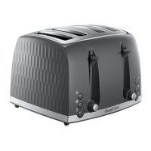 Honeycomb 4 Slice Grey Toaster